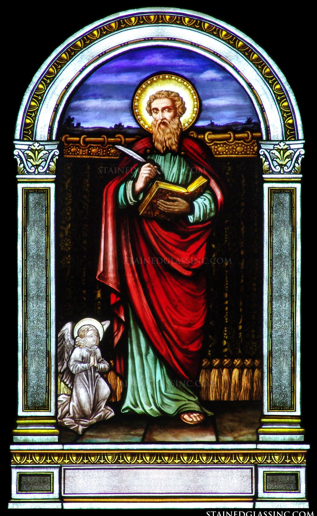 St Matthew Religious Stained Glass Window