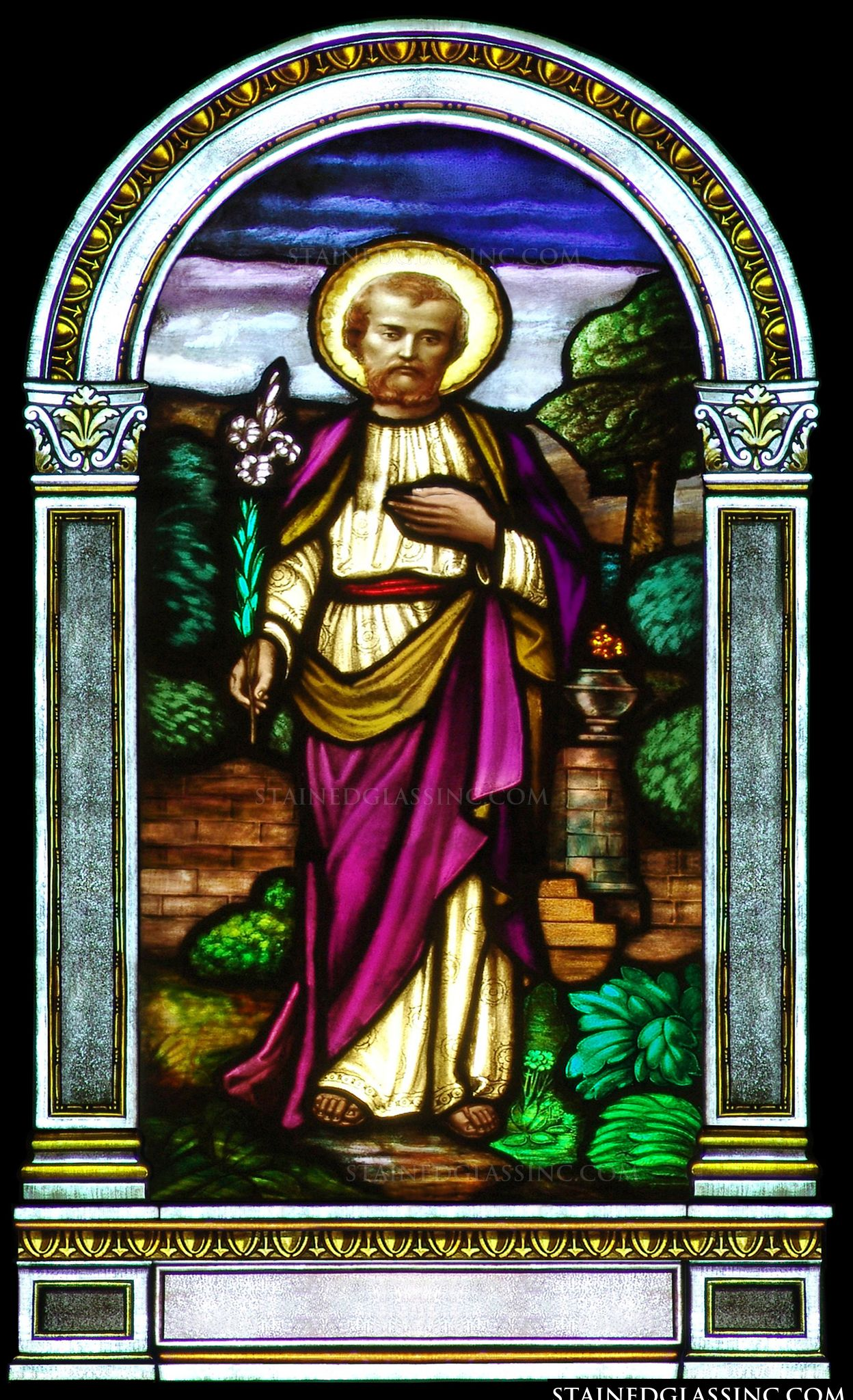 Quot St Joseph Quot Religious Stained Glass Window