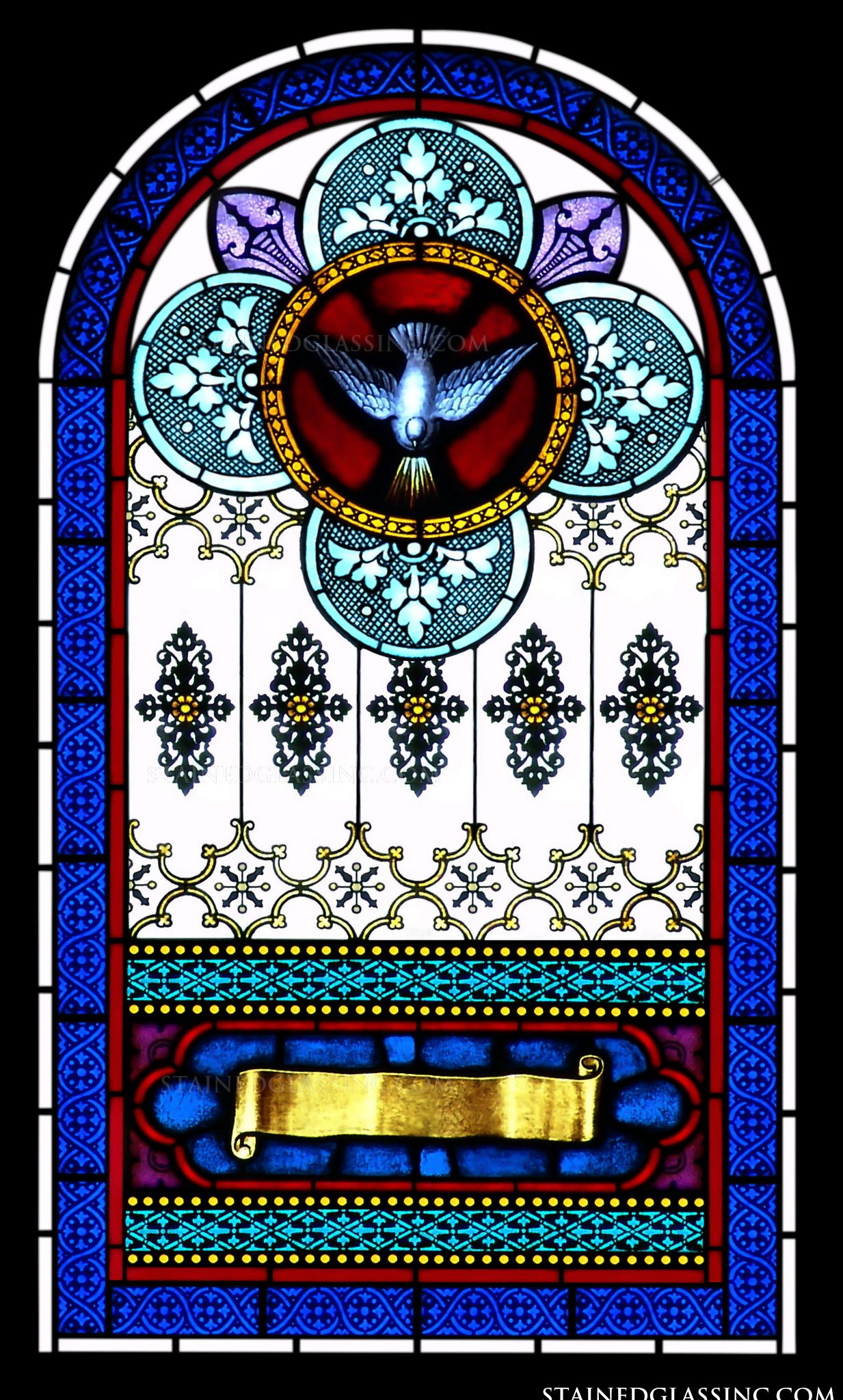 Quot Dove Arched Window Quot Religious Stained Glass Window