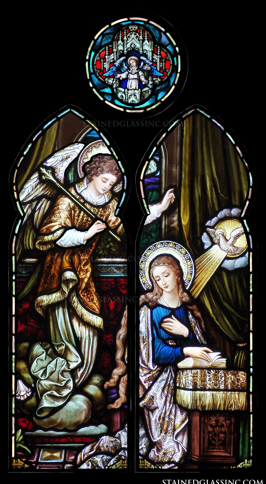 quotthe annunciation of the lordquot religious stained glass window