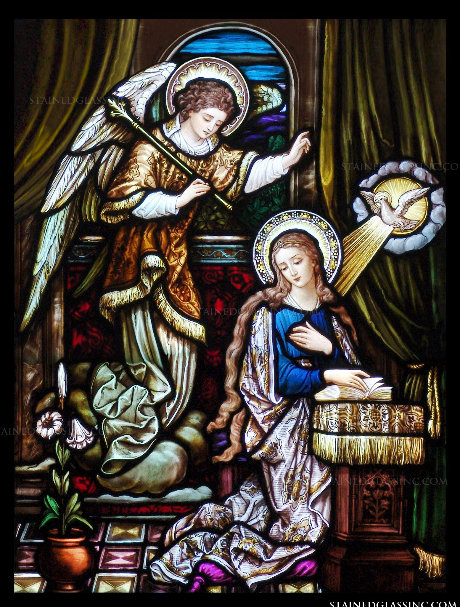 """The Annunciation of the Lord"" Religious Stained Glass Window"
