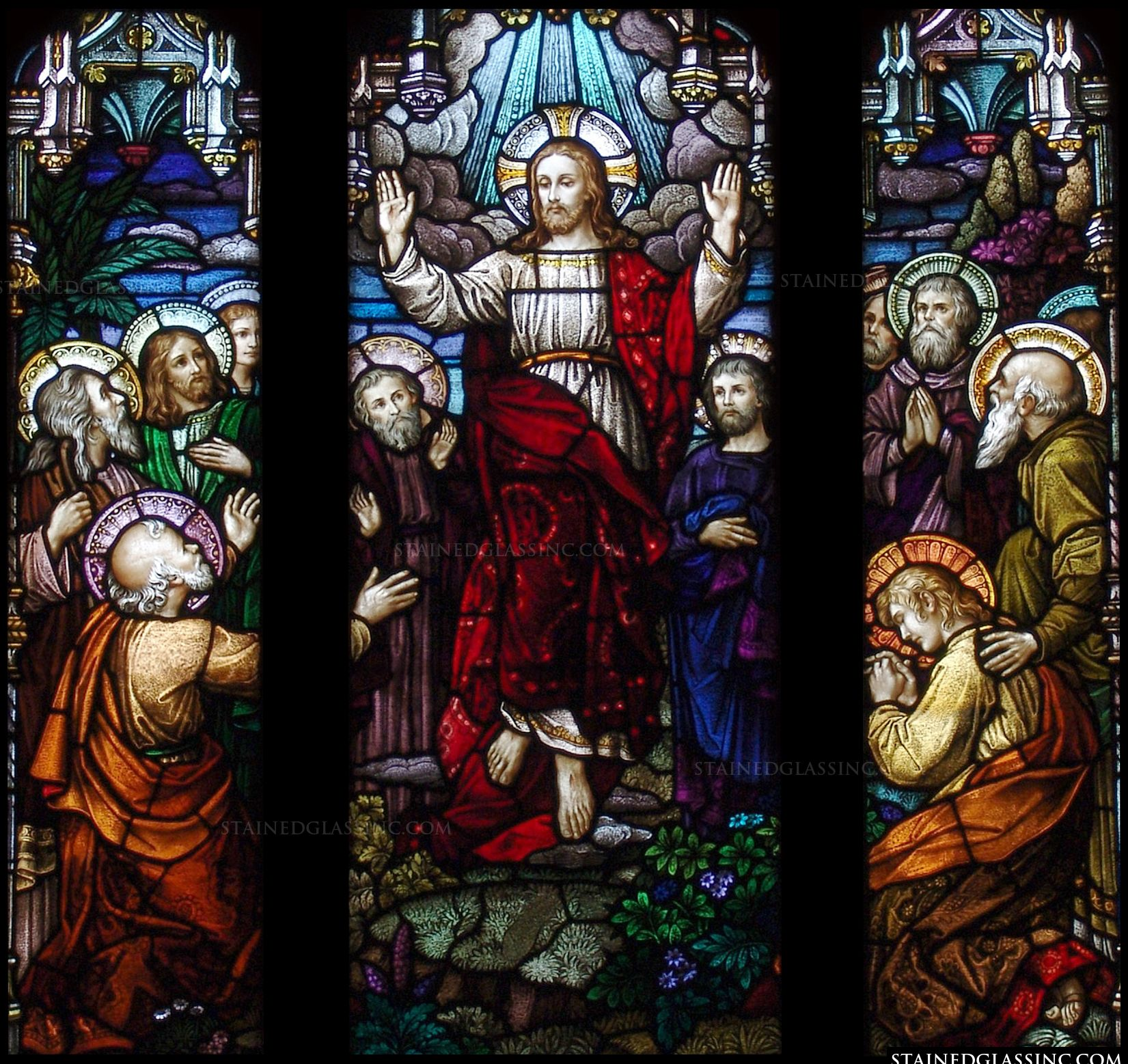 Jesus Stained Glass: The Ascension - About Stained Glass