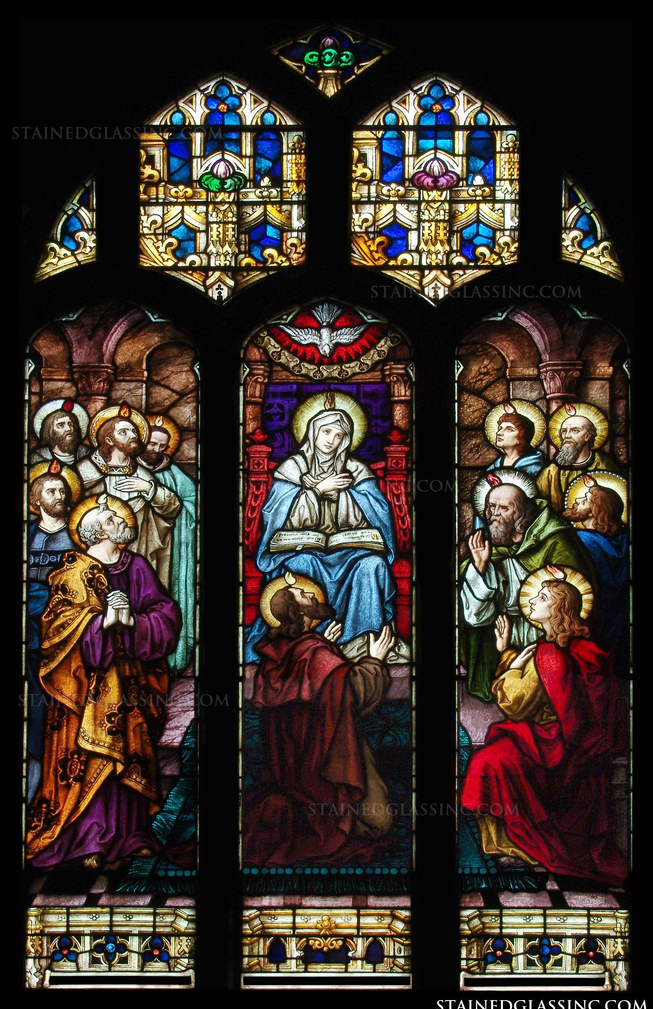 Quot Pentecost Panels Quot Religious Stained Glass Window