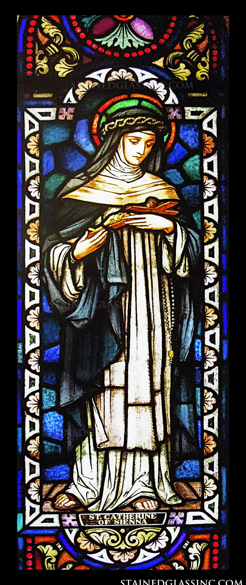 Quot St Catherine Of Sienna Quot Stained Glass Window