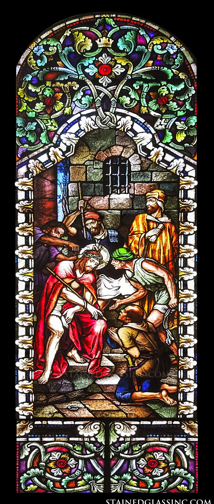 Quot Christ With Crown Of Thorns Quot Stained Glass Window