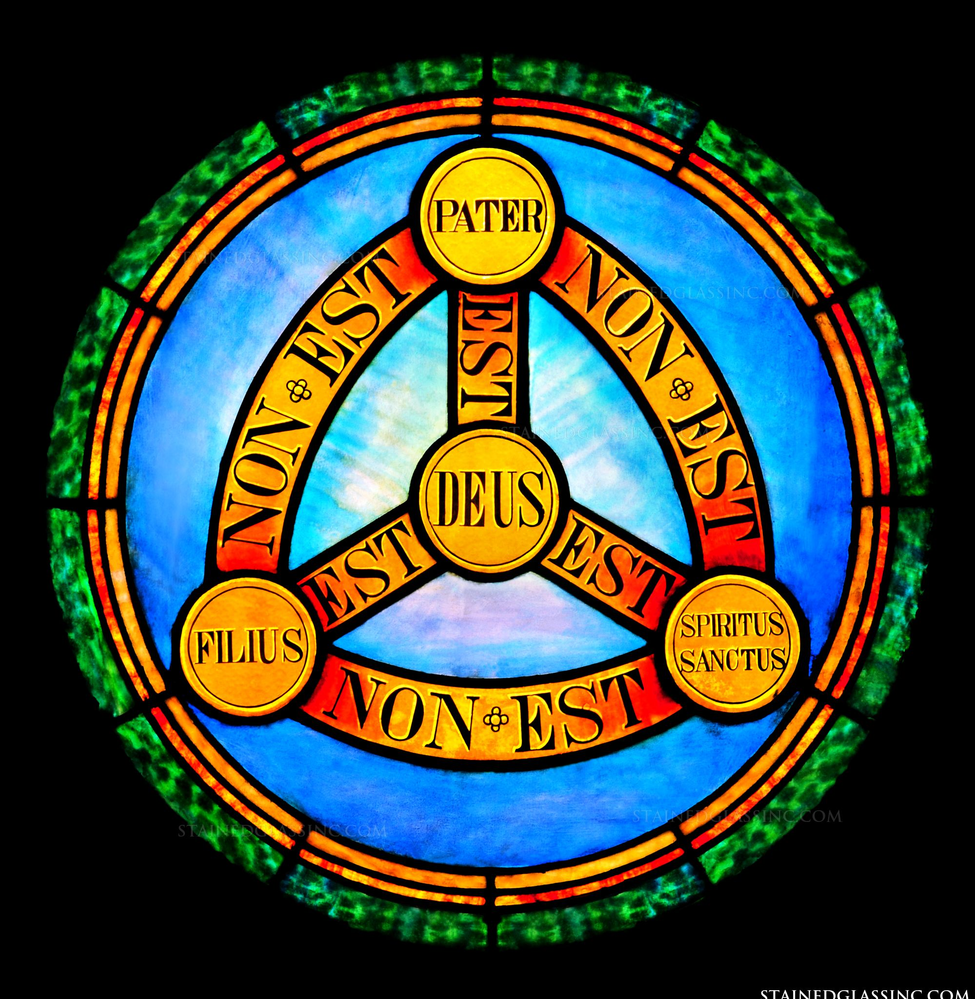 Holy trinity symbol religious stained glass window holy trinity symbol biocorpaavc Image collections