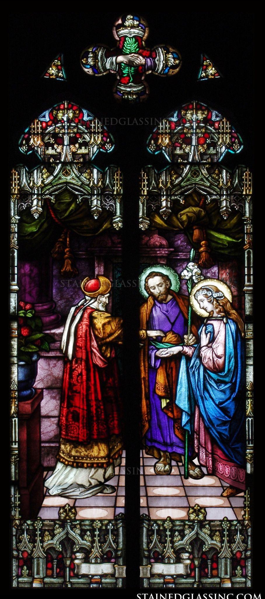 Quot The Wedding Quot Religious Stained Glass Window