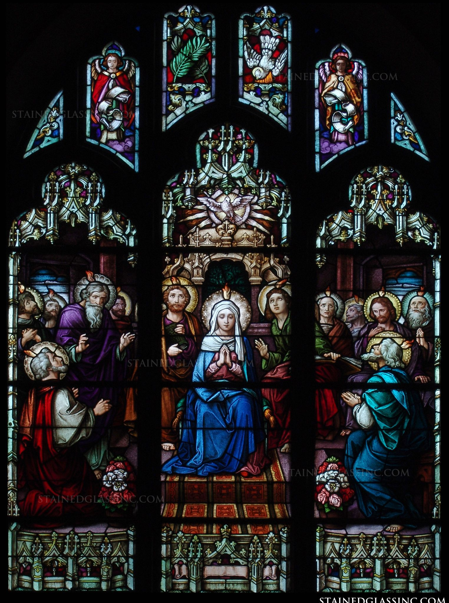 Quot Pentecost Gothic Quot Religious Stained Glass Window