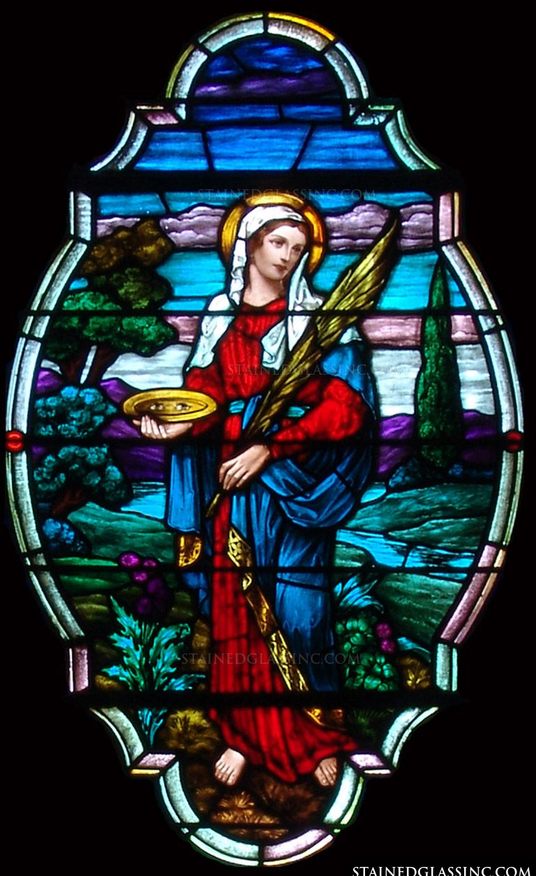 Quot St Lucy The Martyr Quot Religious Stained Glass Window