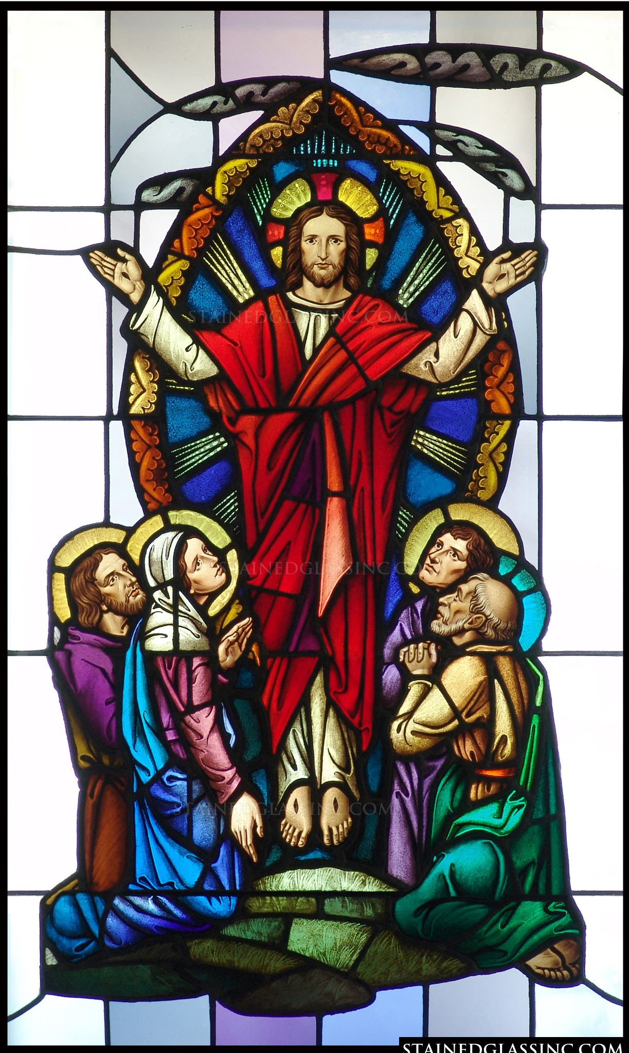 Quot Apostles Commissioned Quot Religious Stained Glass Window