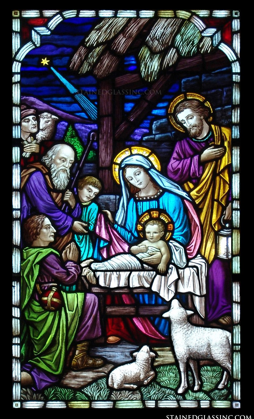 Viewing Gallery For - Nativity Scene Stained Glass