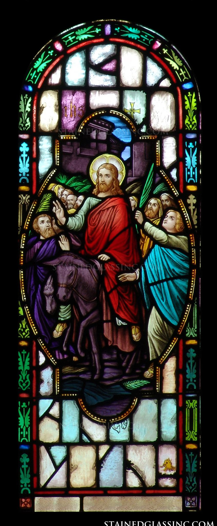 stained glass windows jesus