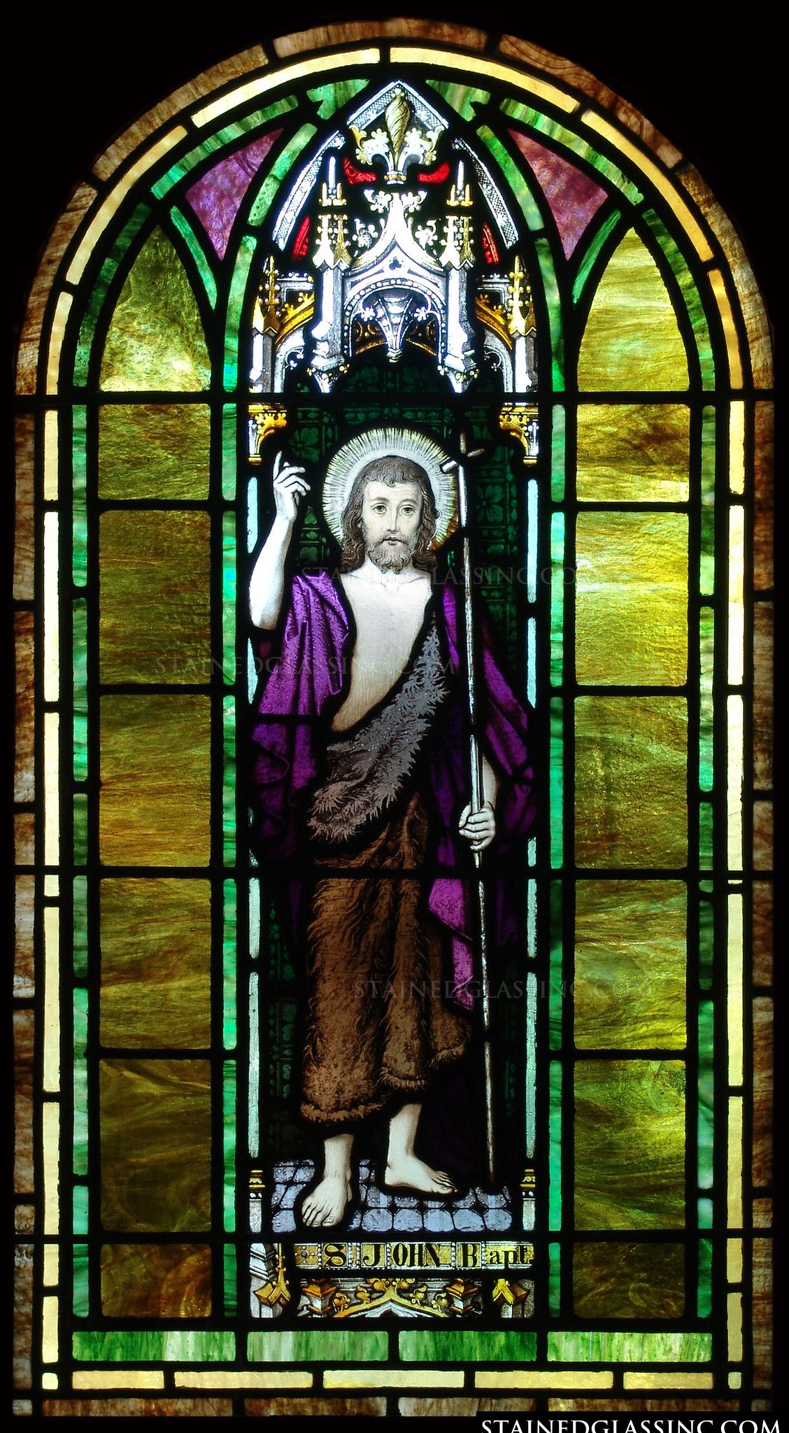 Quot St John The Baptist Quot Religious Stained Glass Window