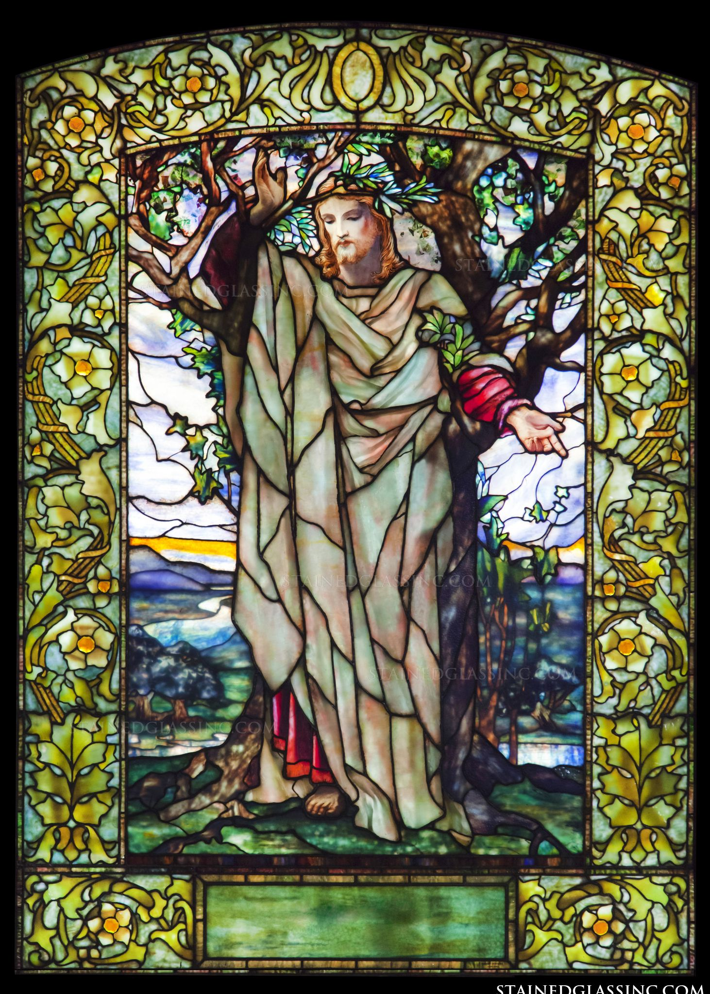 Quot The Sermon Of The Mount Quot Religious Stained Glass Window
