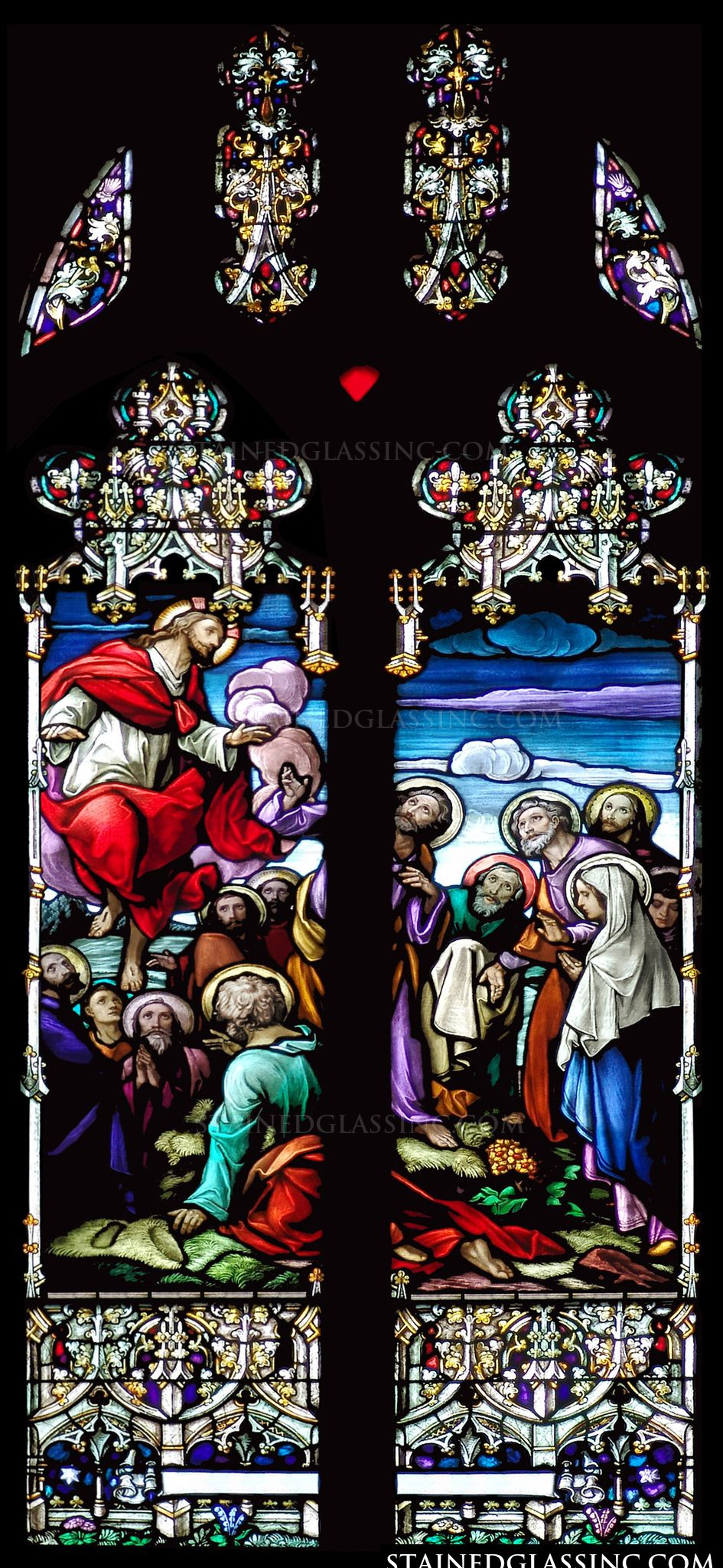 Quot Ascension Gothic Quot Religious Stained Glass Window