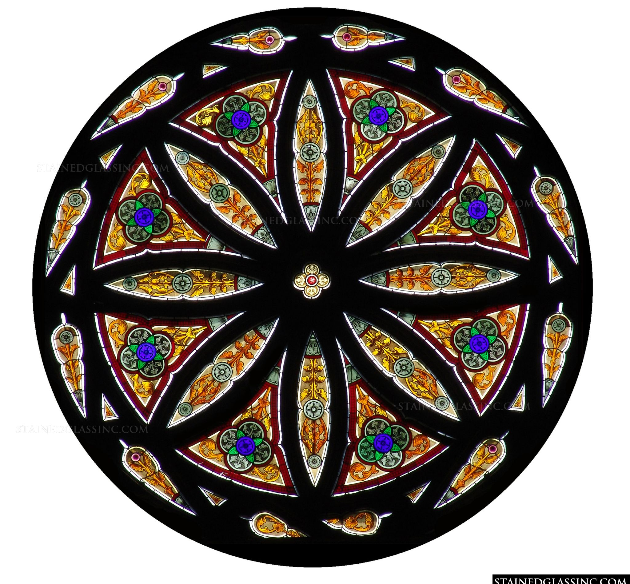 Quot Circular Geometric Window Quot Stained Glass Window