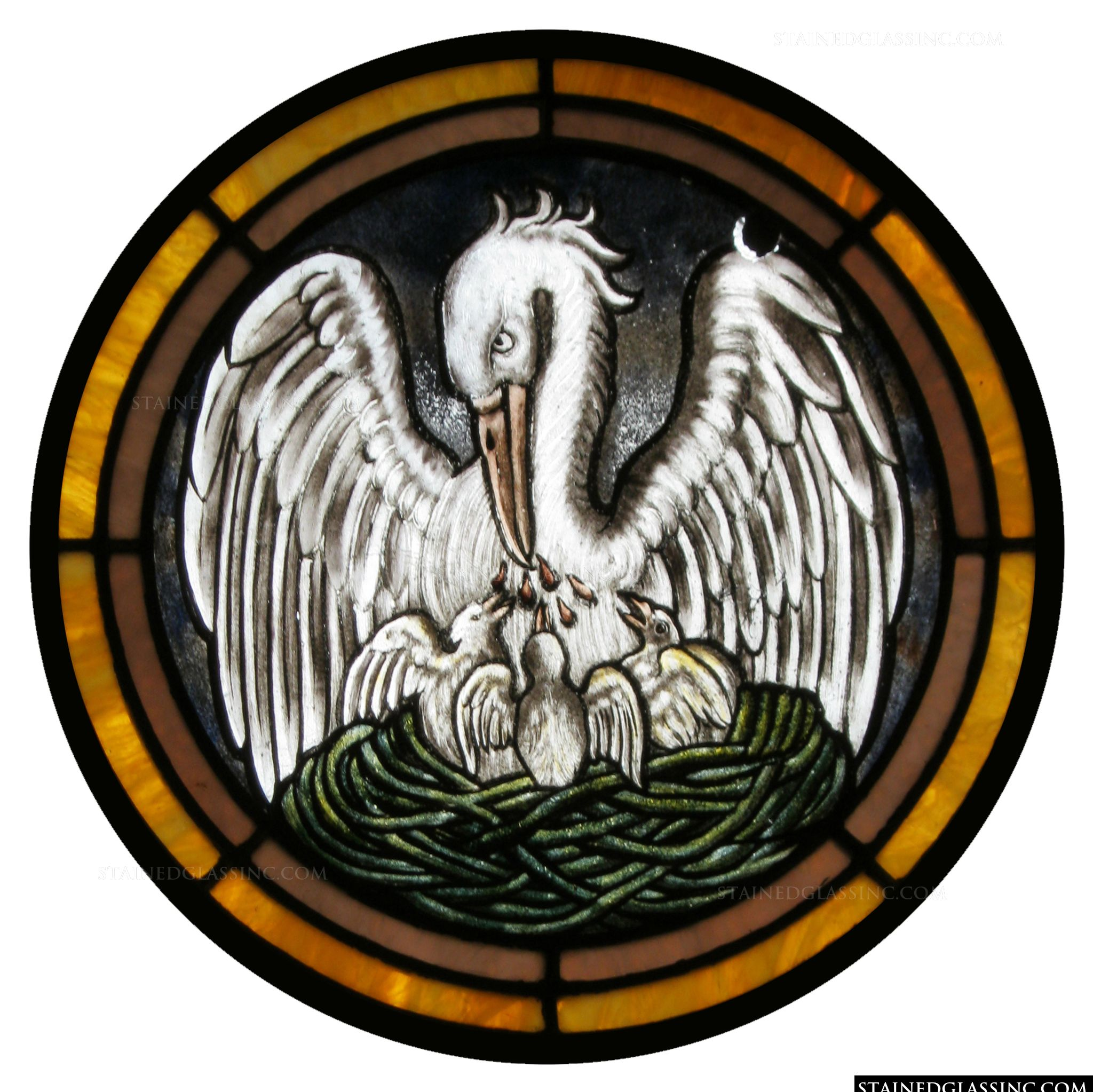 Jesus Home Decor Quot The Pelican Symbol Quot Religious Stained Glass Window