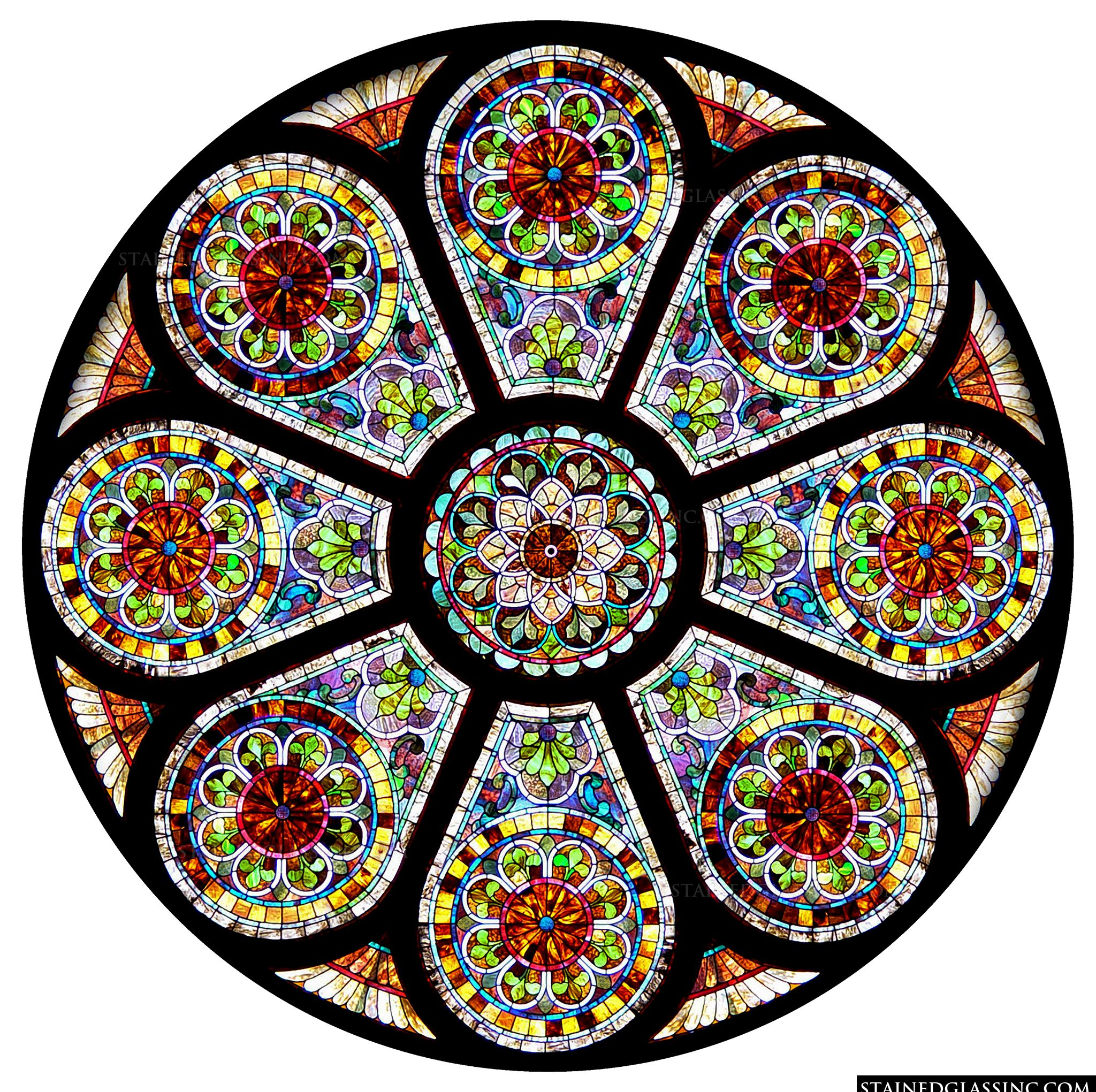Intricately Detailed Rose Window