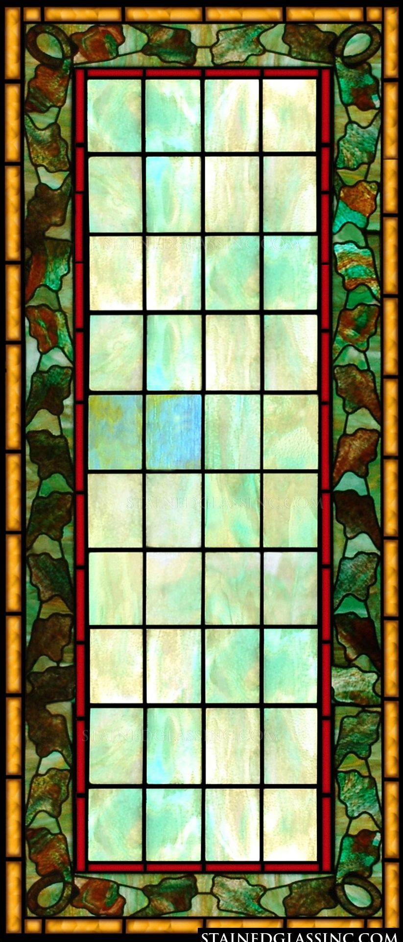 quot framed panel quot stained glass window