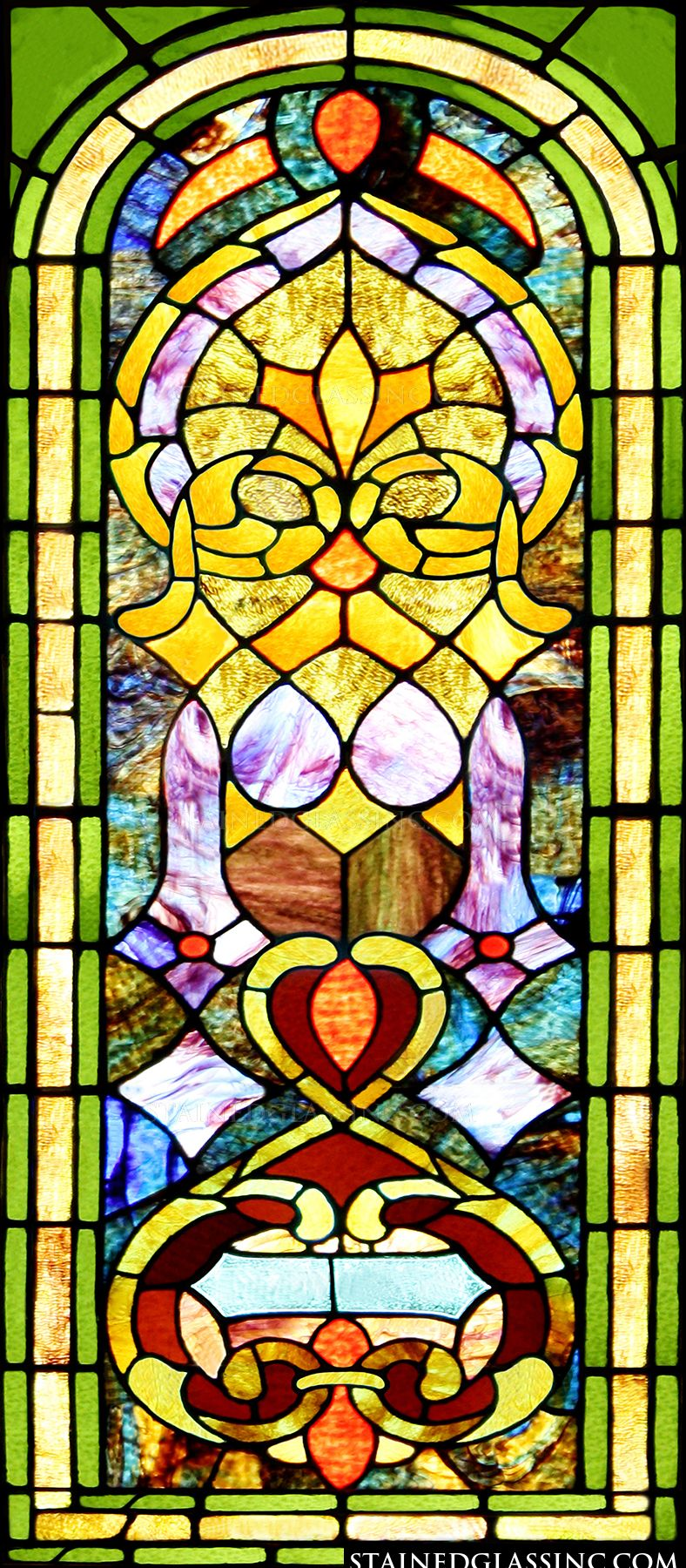 Quot Brightly Colored Panel Quot Stained Glass Window