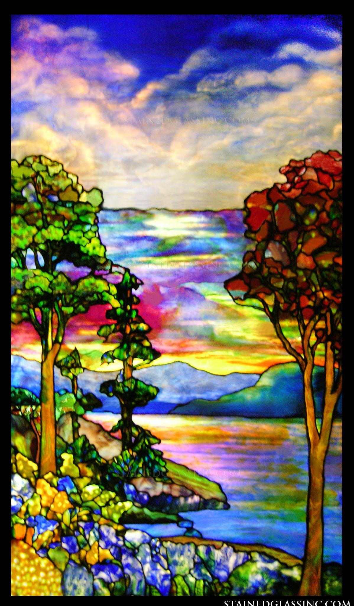 Quot Autumn Landscape Quot Stained Glass Window