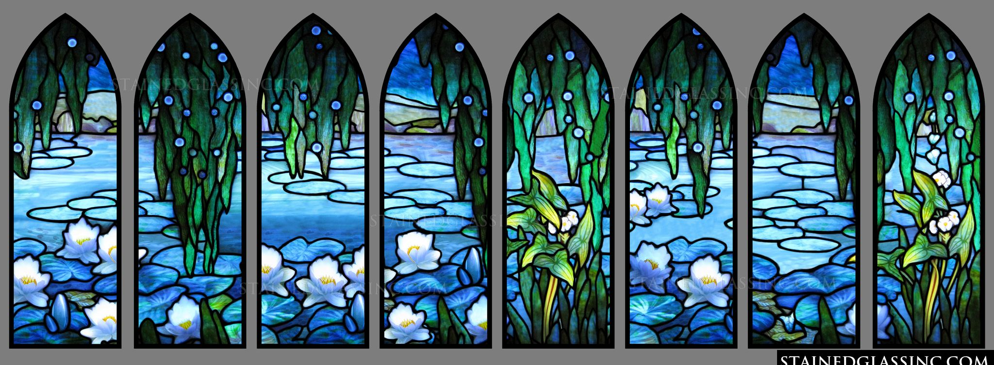 Quot Water Lilies Quot Stained Glass Window