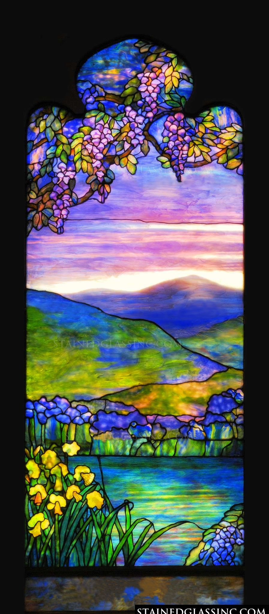 Quot Landscape Of Sunset Colors Quot Stained Glass Window