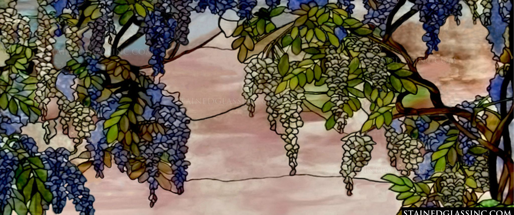 Quot Wisteria Vines Quot Stained Glass Window