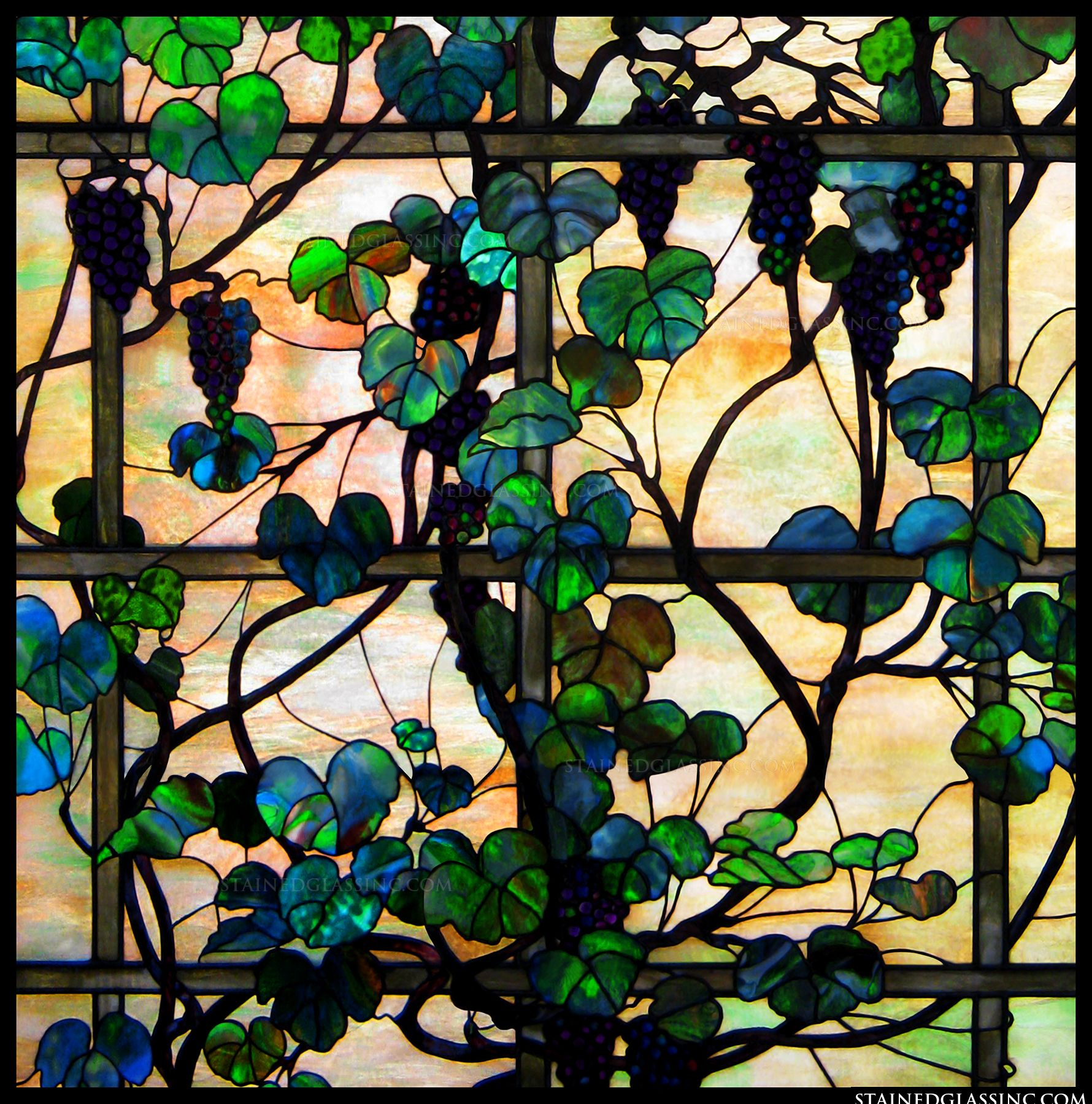 Quot Grapevines And Trellis Quot Stained Glass Window
