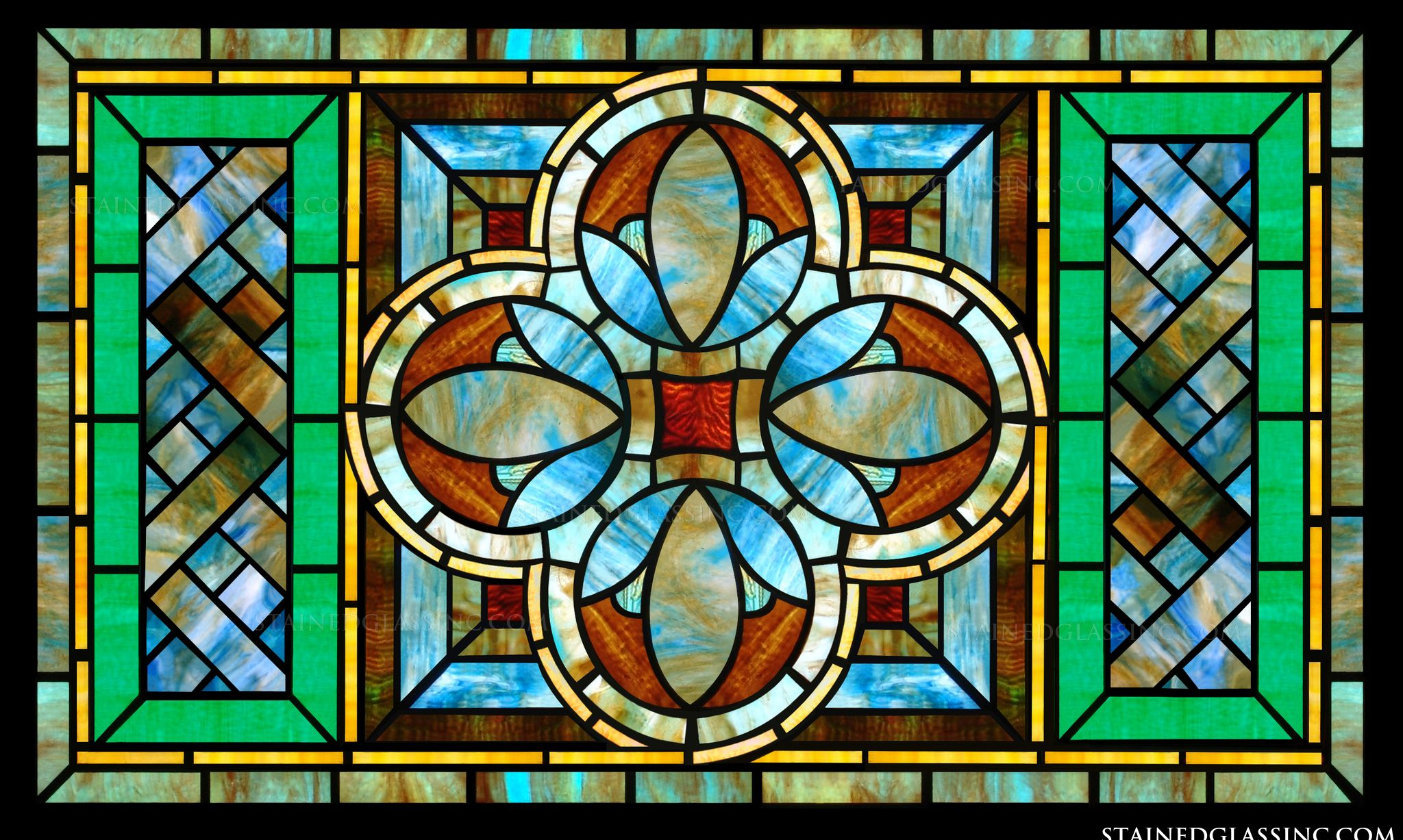 Stained glass for kitchens Kitchen profile glass design