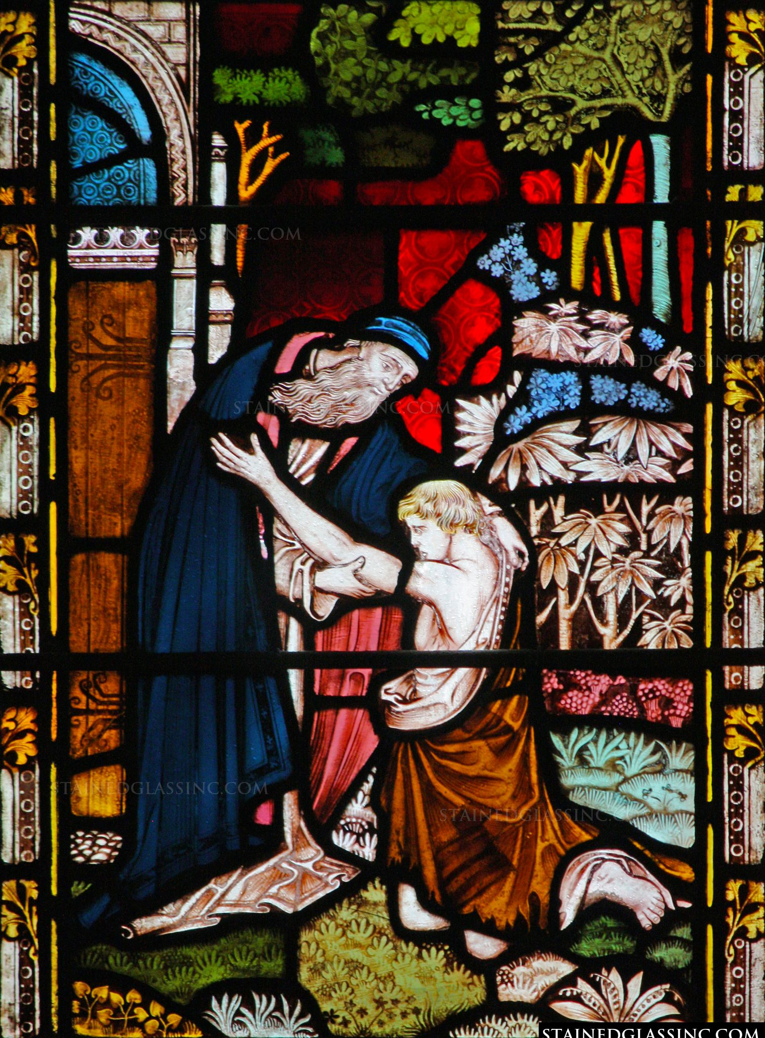 """""""The Returning of the Prodigal Son"""" Religious Stained ..."""