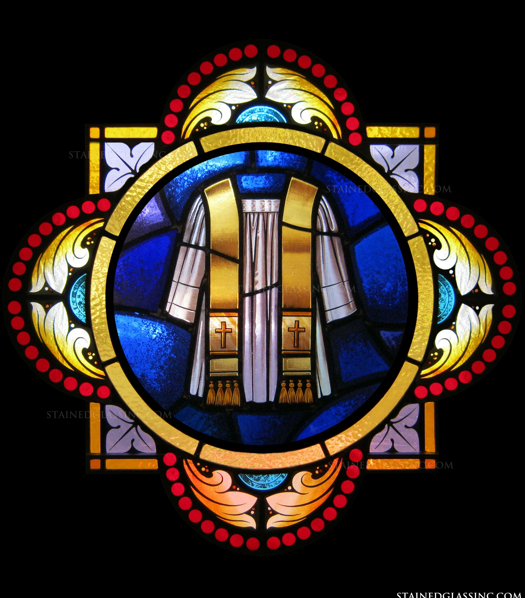 Holy Orders Symbol Religious Stained Glass Window