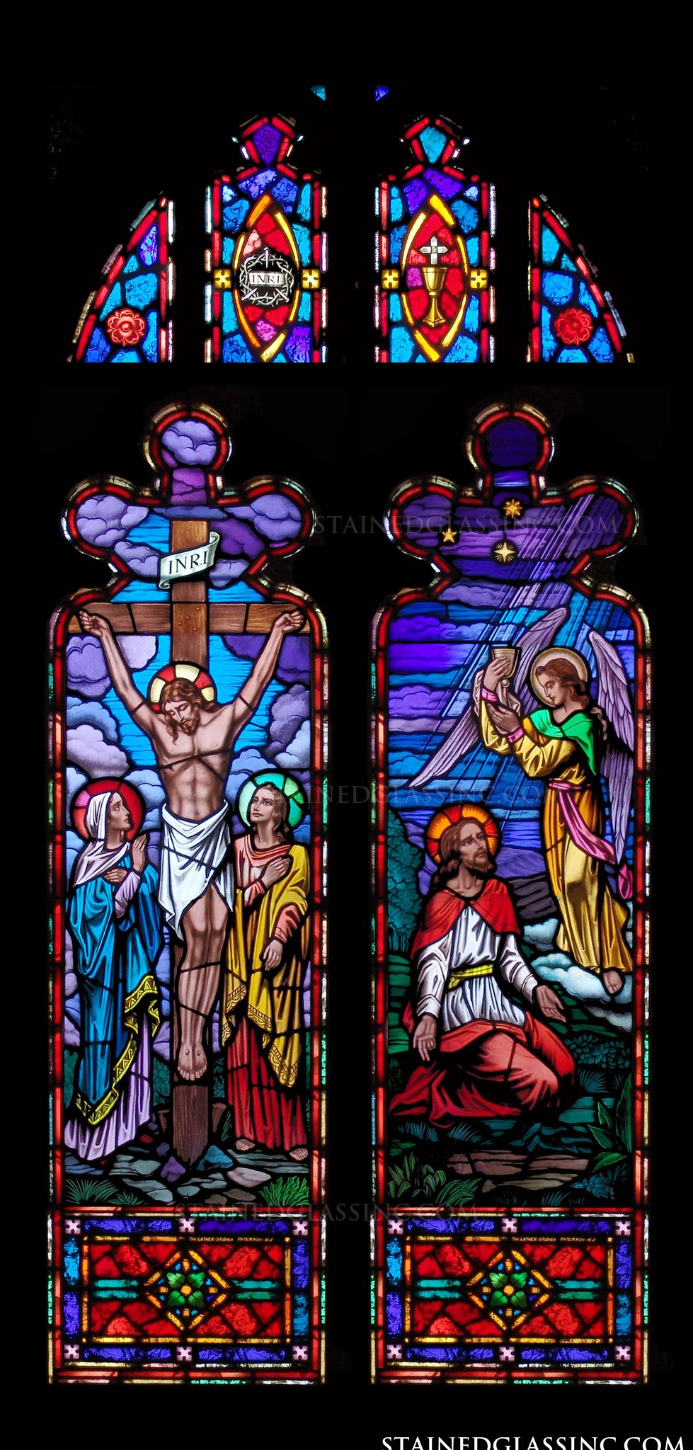 Quot Garden And Crucifixion Quot Religious Stained Glass Window