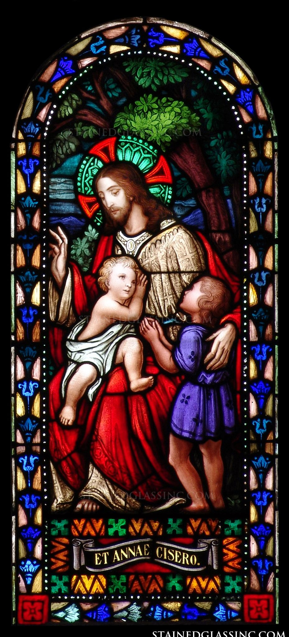 jesus and the small children