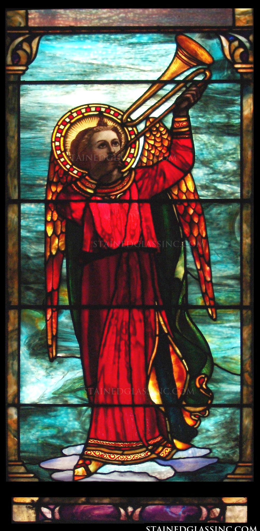 Quot Angel With A Trumpet Quot Religious Stained Glass Window