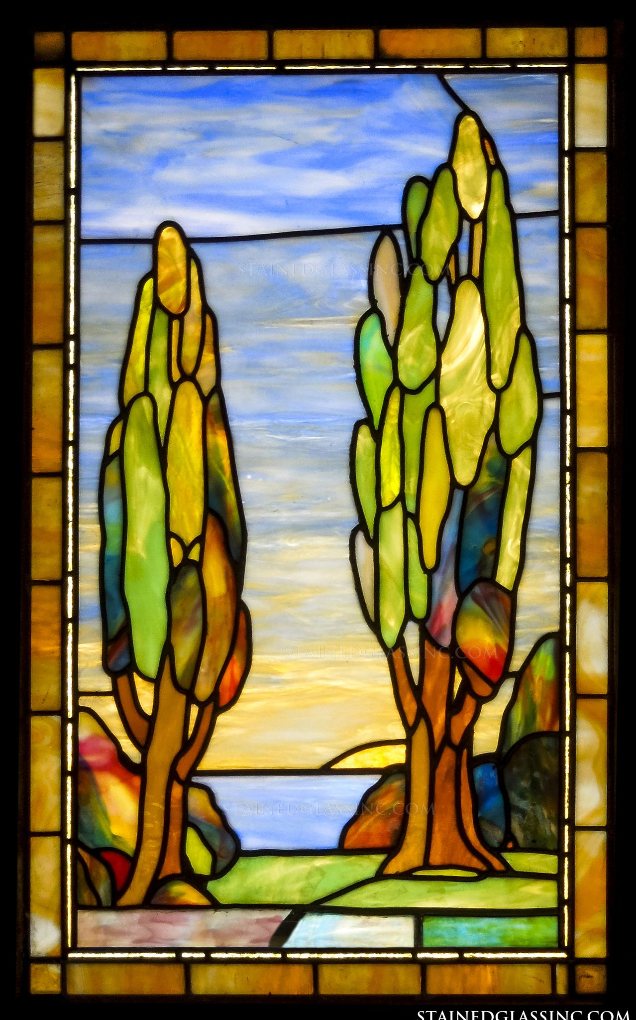 Quot Landscape Beauty Quot Stained Glass Window