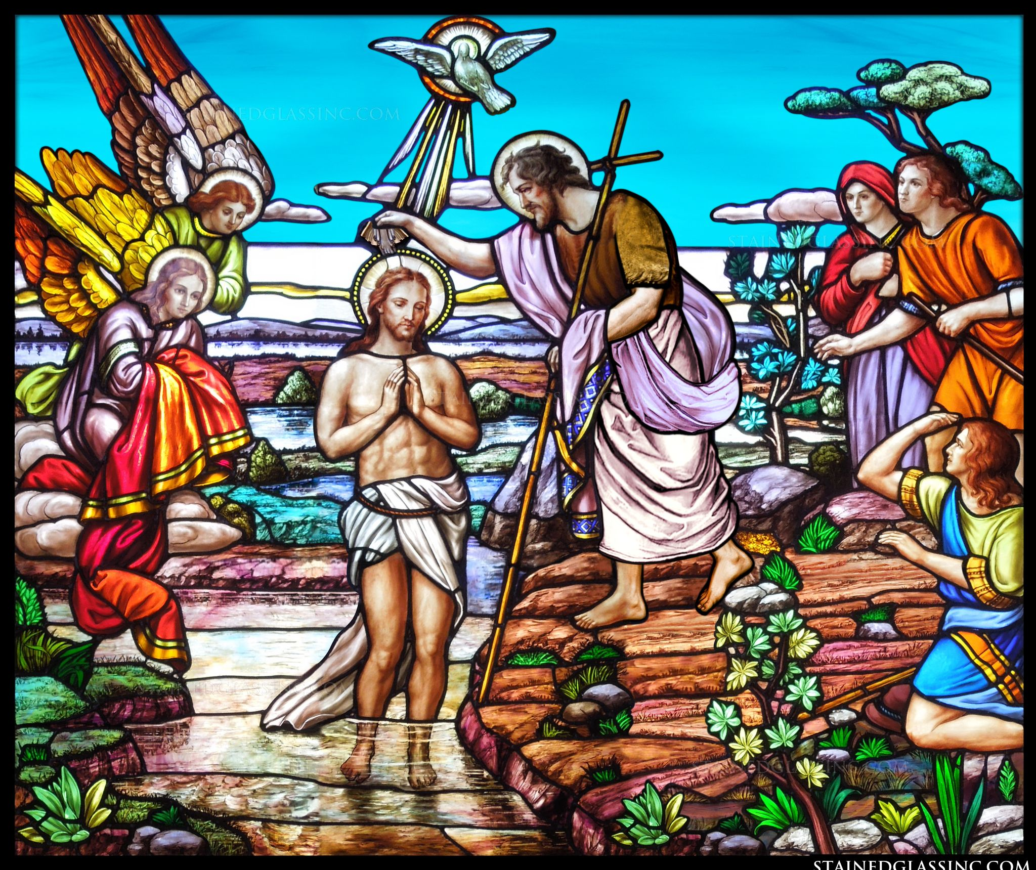 the baptism of jesus by john the baptist