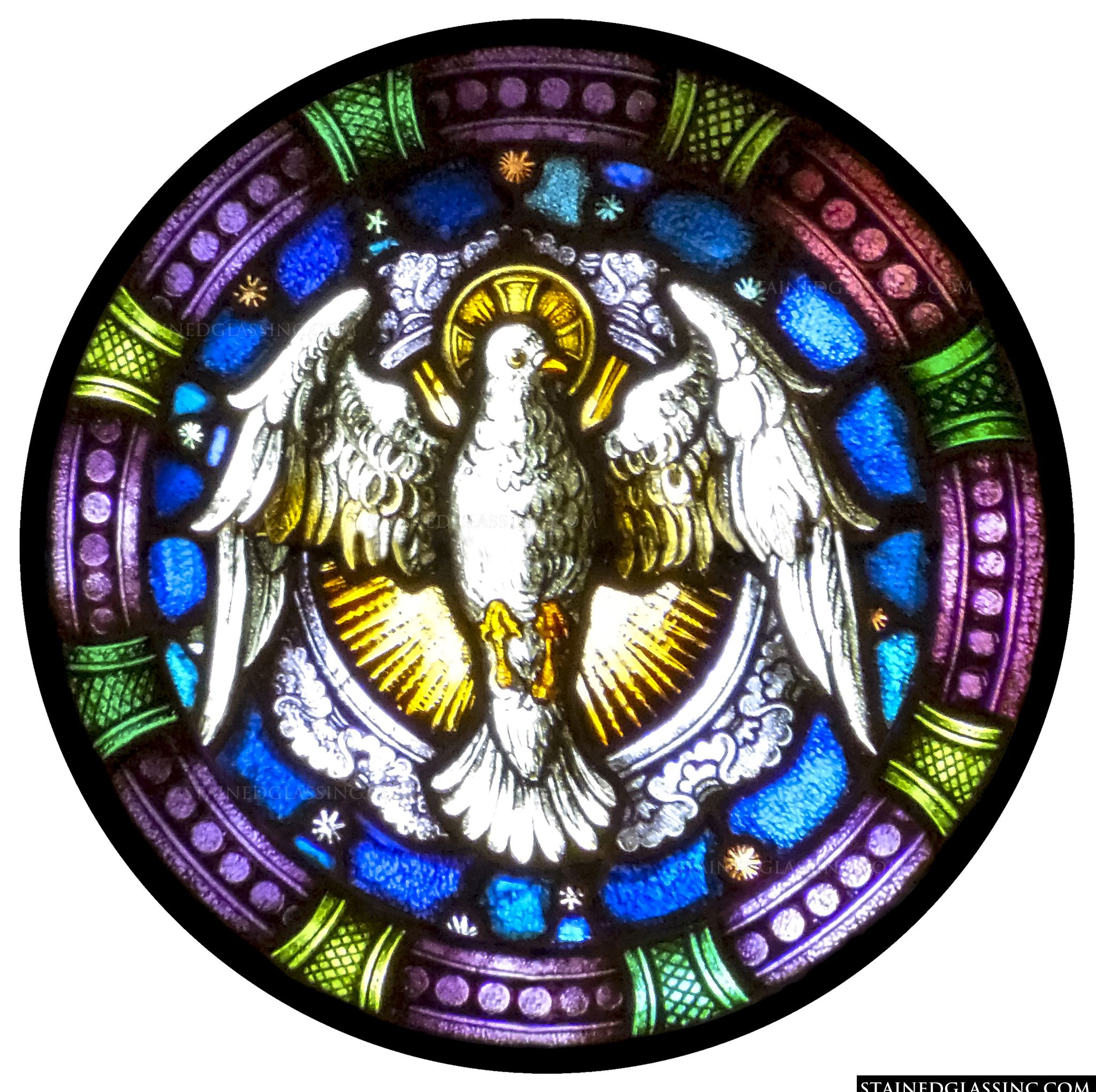 Quot The Dove As God S Holy Spirit Quot Religious Stained Glass Window