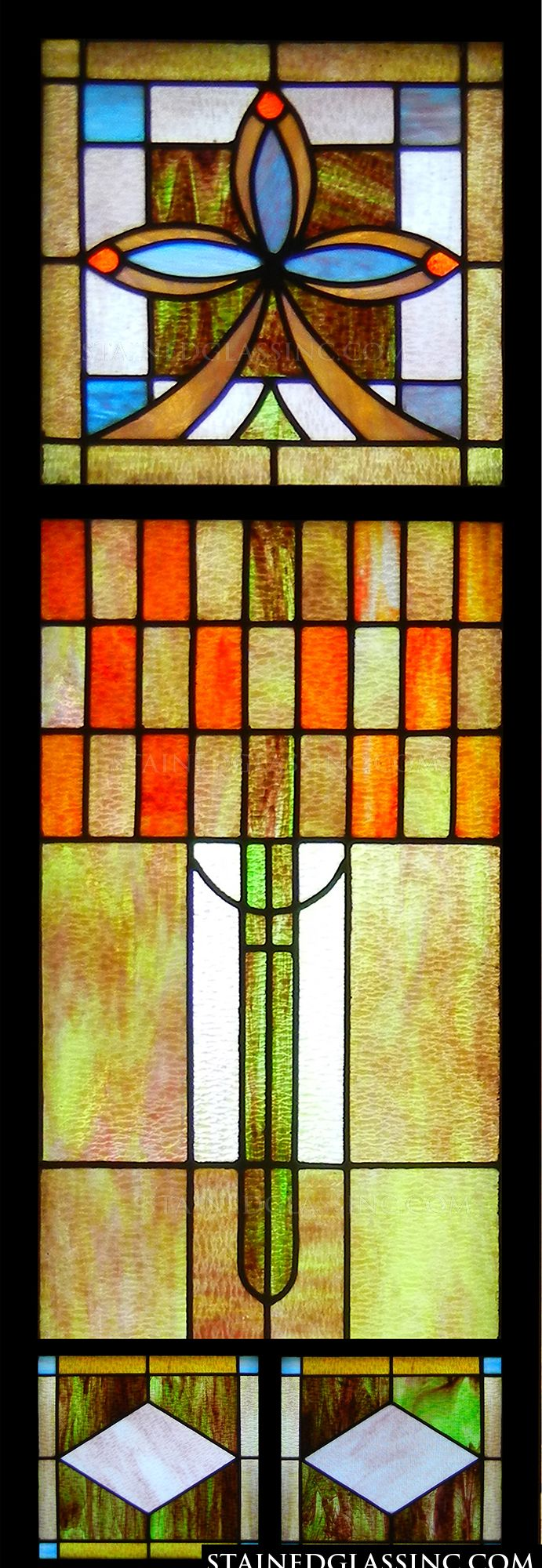 art deco stained glass stained glass window