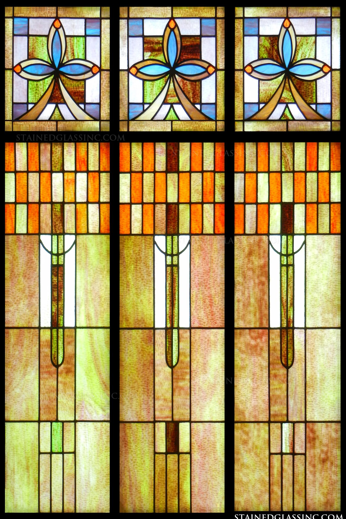 Quot Art Deco Stained Glass Quot Stained Glass Window