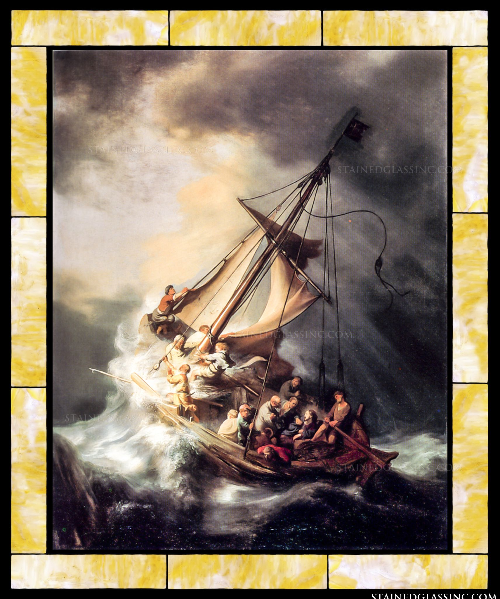 Christ in the storm on the sea of galilee by rembrandt christ in the storm on the sea of galilee publicscrutiny