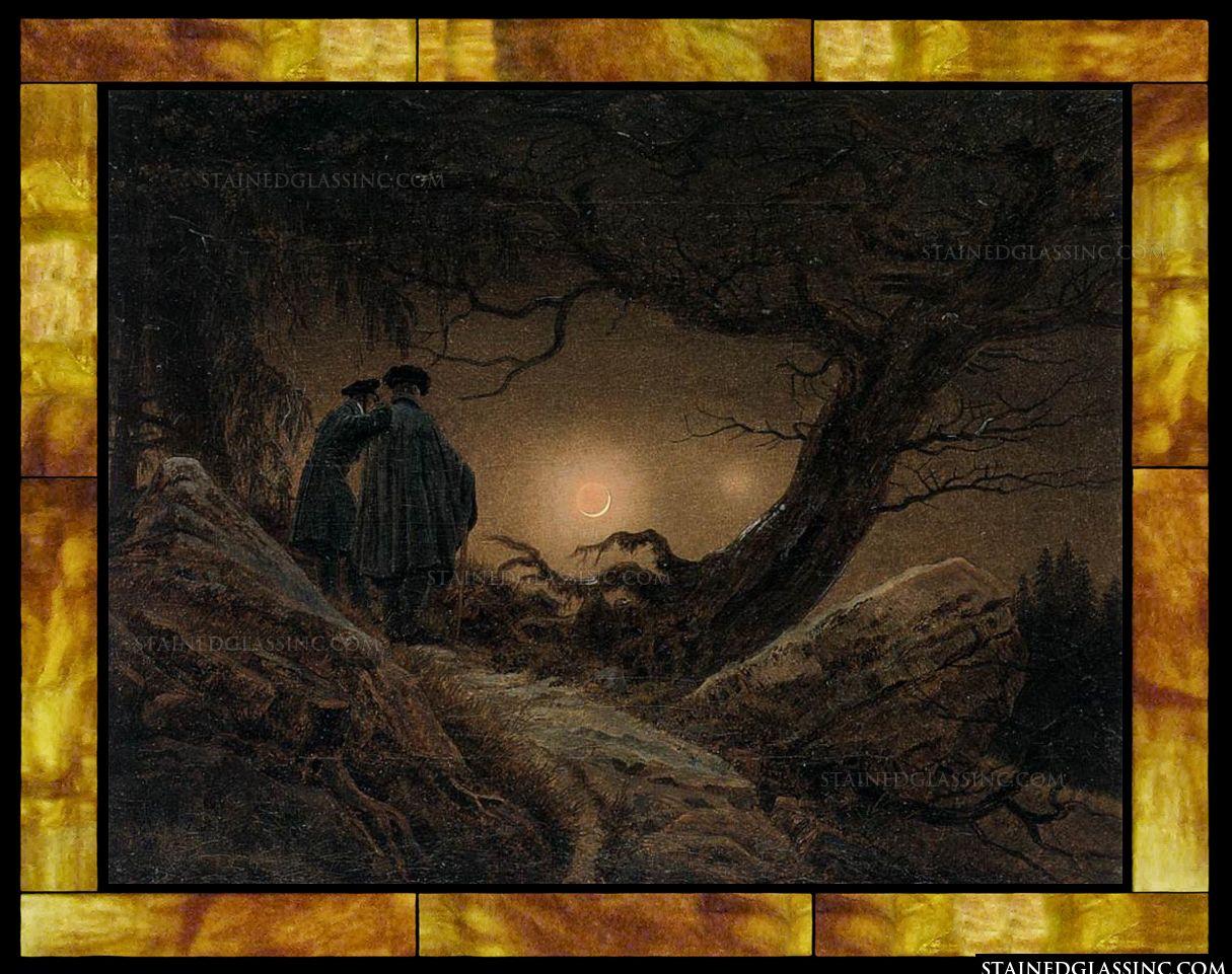 Caspar David Friedrich Quotes: Two Men Contemplating The Moon By Caspar David Friedrich