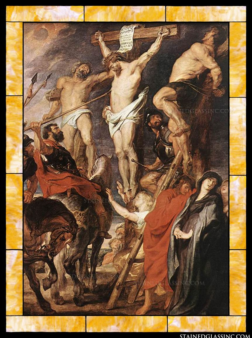 Christ On The Cross Between The Two Thieves By Peter Paul