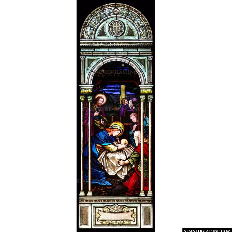 Nativity Stained Glass Window