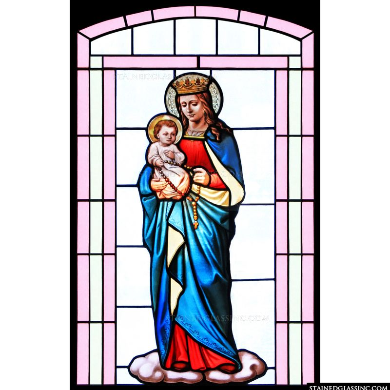 Madonna and Child in Pink Frame