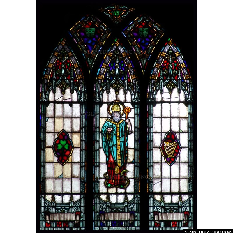Three Panel St. Patrick