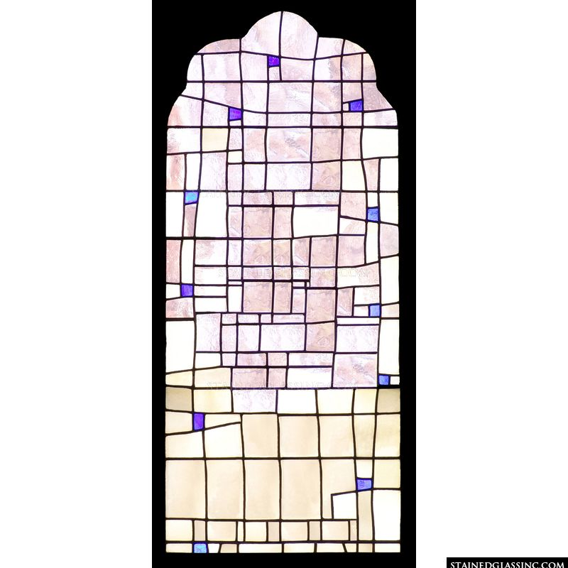 """Simple Geometric"" Stained Glass Window"