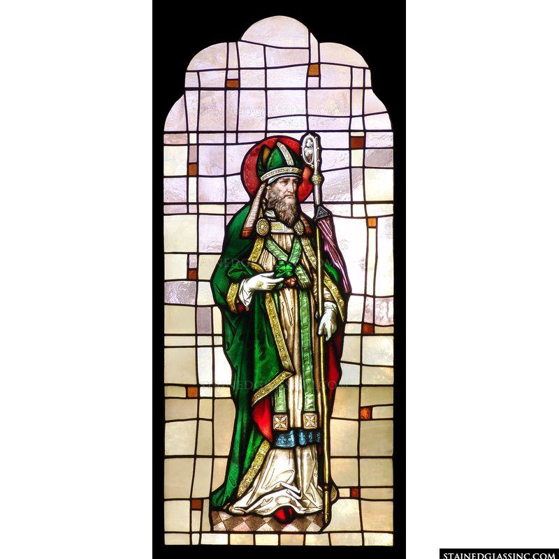 St. Patrick with Shamrocks