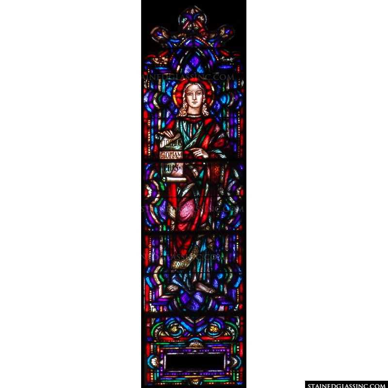 St. Agatha in stained glass.