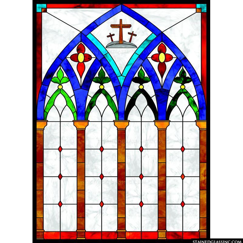 Blue Arch Crosses